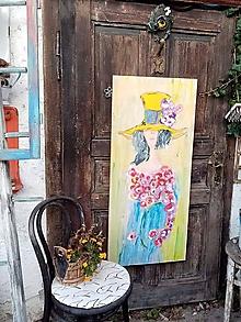 Dekorácie - žena s kvetmi - 11392694_