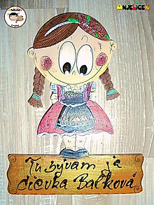 Tabuľky - Menovka - dievča v kroji - 11391547_