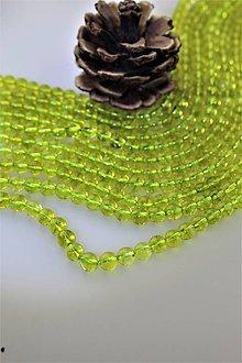 """Minerály - """"olivín"""" korálky 6mm - 11393124_"""
