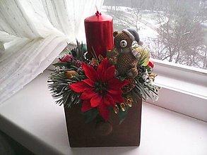 Dekorácie - Vianočný svietnik ... pokojné vianoce... - 11391499_