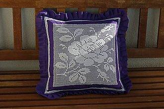 Úžitkový textil - Levanduľa na vankúši... - 11393349_
