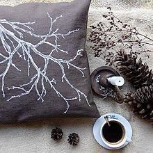 Úžitkový textil - Ľanový vankúš - strom - 11393862_
