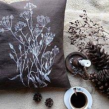 Úžitkový textil - Ľanový vankúš - trávy - 11393912_