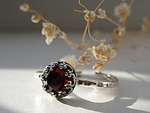 Prstene - Granátový s patinou - 11391613_
