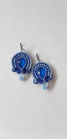 Náušnice - Modré šujtášky zvončeky - 11392112_