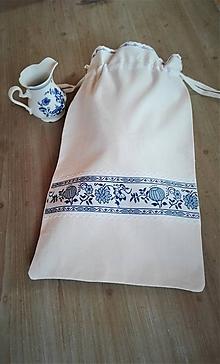 Úžitkový textil - Ľanové vrecko na veľký chlieb nesmrteľný cibuliak - 11393117_
