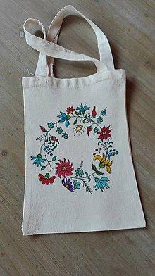 Iné tašky - Bavlnená taštička ručne maľovaná_ lúčne kvietky - 11393361_