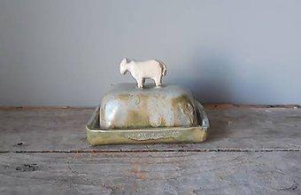 Nádoby - Maselnička na malé maslo s ovečkou - 11393369_