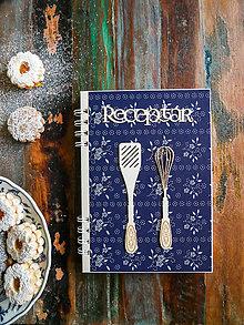 Papiernictvo - Receptár s modrotlačou - 11393008_