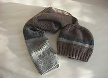 Čiapky - Zimná čiapka a šál z alpaky - 11392760_