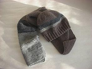 Čiapky - Zimná čiapka a šál z alpaky - 11392761_