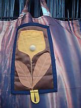 Nákupné tašky - taška oranžový kvet - 11391257_