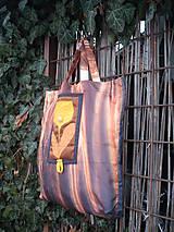 Nákupné tašky - taška oranžový kvet - 11391260_