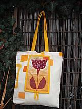 Nákupné tašky - taška oranžová - 11391298_