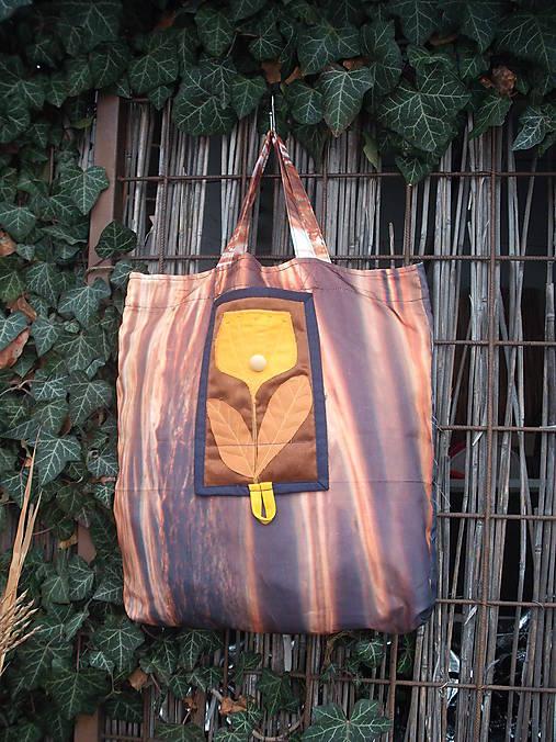 taška oranžový kvet