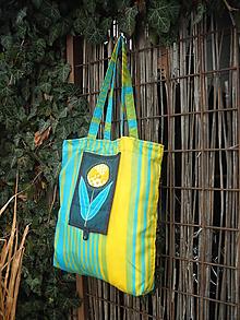 Nákupné tašky - taška pásikavá - 11391238_