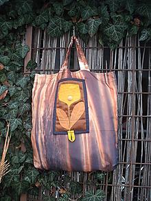 Nákupné tašky - taška oranžový kvet - 11391258_