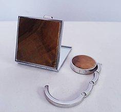 Zrkadielka - Do kabelky-zrkadielko, držiak na kabelku - 11391327_