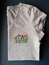 """Tričká - Vyšívané tričko """"Lúka"""" - 11390974_"""