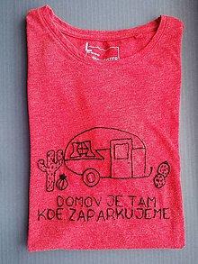 "Tričká - Vyšívané tričko ""Na cestách"" - 11390977_"