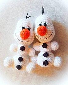 Hračky - Snehuliačik hrkálka - 11392469_