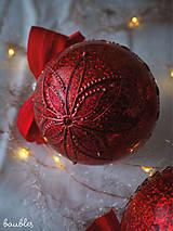 Dekorácie - ČERVENÉ vianočné guľe s 3D fotkou - 11392827_