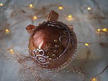 Dekorácie - BRONZOVÉ vianočné gule s 3D fotkou - 11392917_