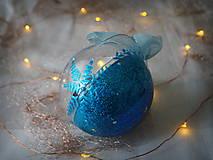 Dekorácie - MODRÉ vianočné gule s 3D fotkou - 11392931_