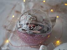 Dekorácie - LEVANDULOVÉ vianočné gule s 3D fotkou - 11393016_