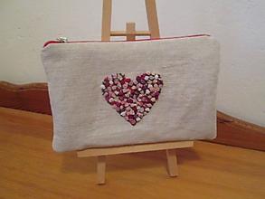 Taštičky - Taštička srdce - 11392735_