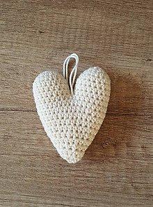 Dekorácie - Háčkované vintage srdce - 11394167_
