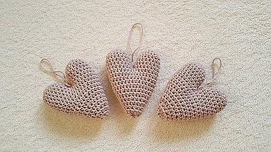 Dekorácie - Háčkované vintage srdcia - 11394276_