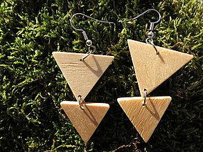 Náušnice - WoBo náušnice trojuholníky - 11393842_