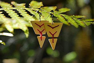 Náušnice - WoBo drevené náušnice červené - 11393851_