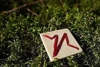 Odznaky/Brošne - WoBo drevená brošňa pulz - 11393920_