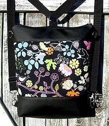 "Batohy - ""backpack 2in1 - birds"" - Batoh & taška cez rameno - 11393071_"