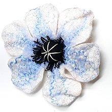 Drobnosti - Vlčí mak - brošňa (Modrá) - 11391972_