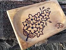 Nádoby - Mini tanierik Fleur - 11393209_