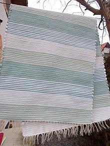 Úžitkový textil - odtiene mentolovej - 11394869_