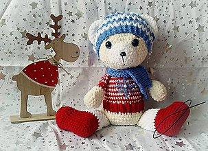 Hračky - Vianočný macko - 11395503_