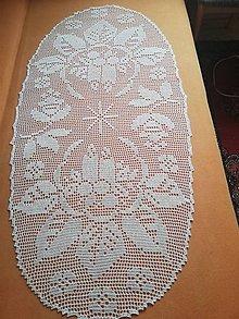Úžitkový textil - Hackovany slávnostný obrus - 11395028_