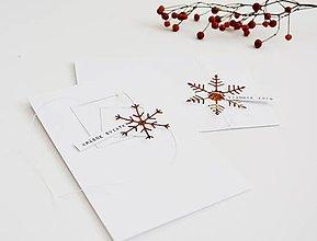 Papiernictvo - Sada 2 vianočných pozdravov (Meď/Bronz) - 11394688_