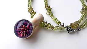 Náhrdelníky - Náhrdelník s olivínmi. - 11395508_
