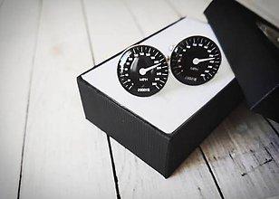 Šperky - Manžetové gombíky tachometer - 11395882_