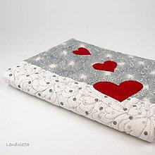 Úžitkový textil - Obal na knihu - Zimní láska - 11397592_