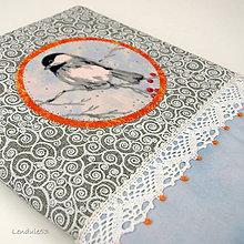 Úžitkový textil - Obal na knihu - Když venku mrzne - 11397608_