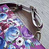 Kabelky - Kabelka DINKY bag - ružová s potlačou maľovaných kvetov - 11396495_