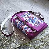 Kabelky - Kabelka DINKY bag - ružová s potlačou maľovaných kvetov - 11396497_