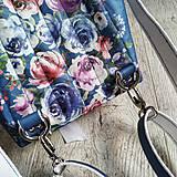Batohy - CANDY backpack - modrá s potlačou maľovaných kvetov - 11396627_