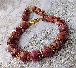 Sady šperkov - set elegancia howlit v zlate - 11396218_
